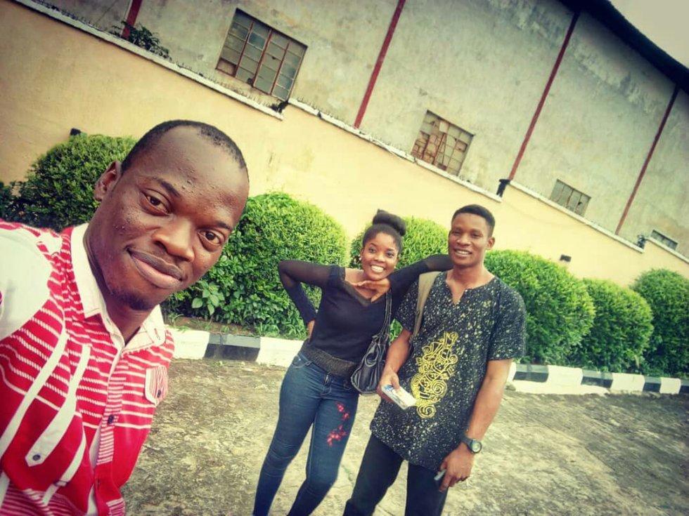 George Onyedikachukwu Nnadozie with Esther Nnaji and Josh