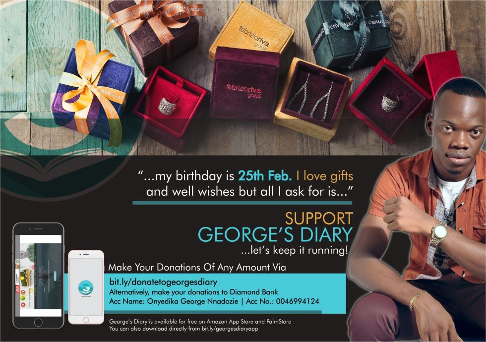 SUPPORT GEORGE'S DIARY